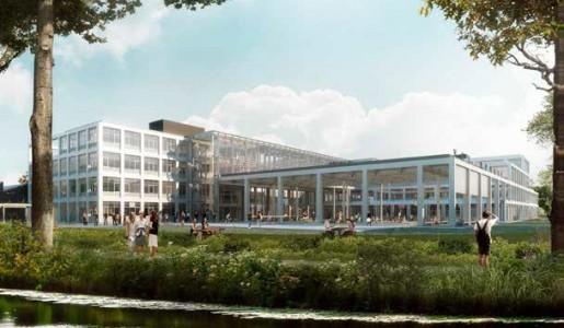 Bouwwerken nieuwe campus volop bezig.